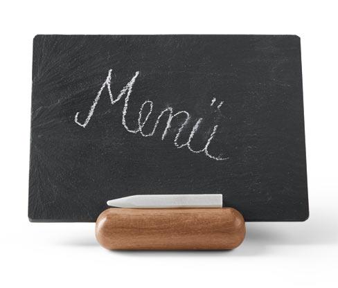 Stojánek s břidlicovou tabulkou na menu