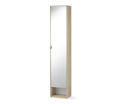 Armoire haute avec miroir pour salle de bains