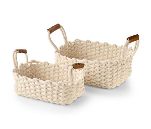 Pletené úložné košíky, 2 ks