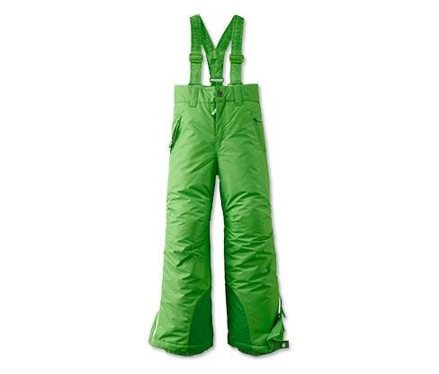 Lyžařské kalhoty, zelené