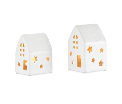 Ceramiczne domki LED, 2 sztuki