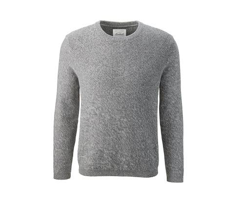 Férfi kötött pulóver, szürke