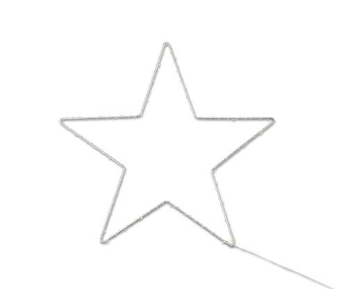 LED kovová hviezda, malá