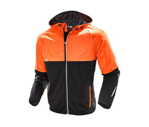 Pánská běžecká termobunda, oranžovo-černá