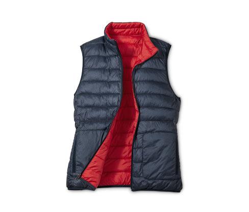 Obojstranná prešívaná vesta