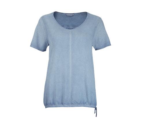 Halenkové tričko s tkanou vsadkou