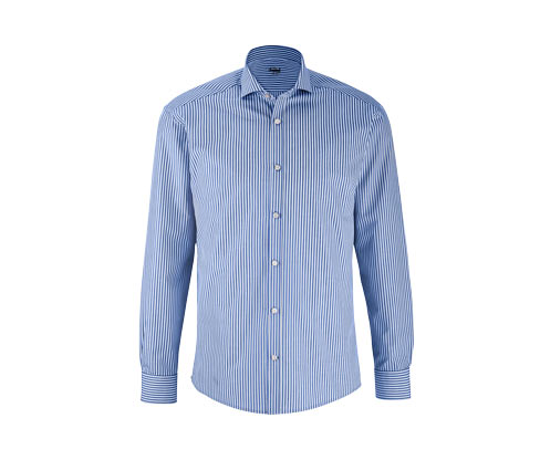 Férfi ing, világoskék-fehér csíkos