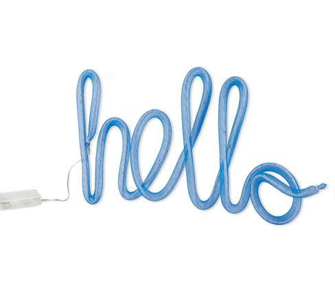Ozdobný nápis s LED »Hello«