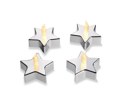 Čajové svíčky s LED, 4 ks