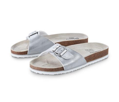 Pohodlné sandály v metalickém vzhledu