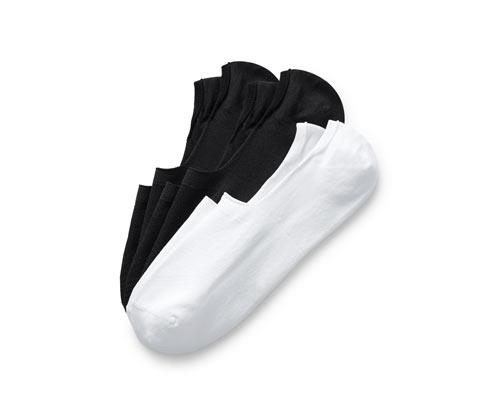 Siyah Beyaz Spor Sneaker Çorabı