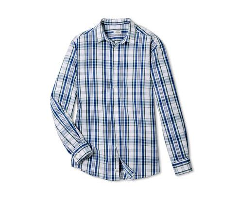 Férfi hosszú ujjú ing, kék kockás