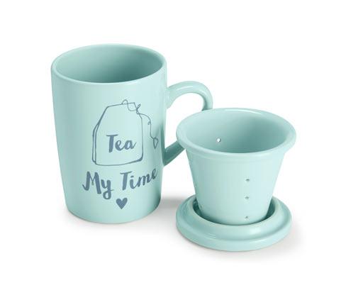 Kubek do herbaty, z sitkiem i pokrywką