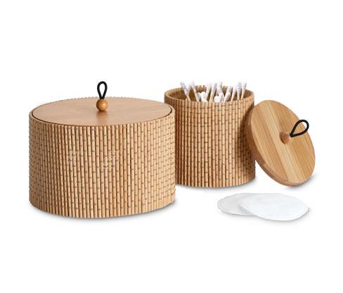 2 Dosen aus Bambus