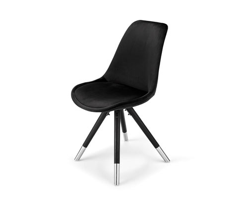 Polstrovaná židle se sametovým potahem