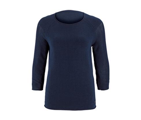 Női finomkötésű pulóver, sötétkék