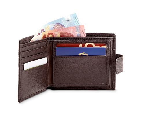 Férfi bőrpénztárca, barna