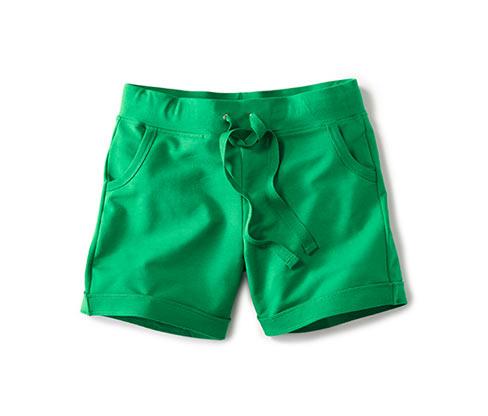 Žerzejové šortky, zelené