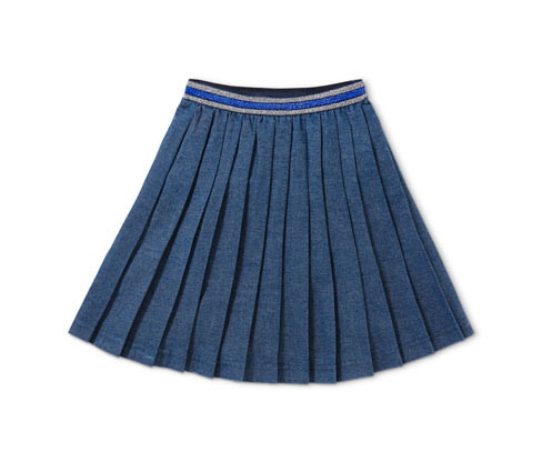 Plisowana spódnica dżinsowa