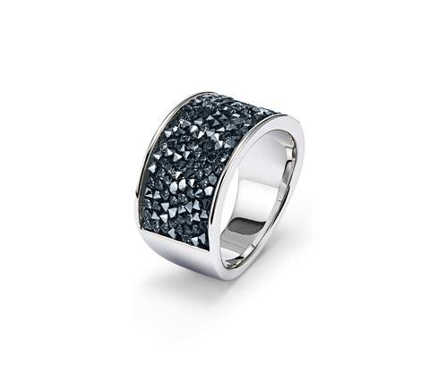 Prsteň s krištáľmi Swarovski® , pozlátený ružovým zlatom