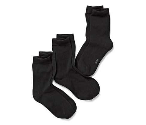 3 Paar Damen Socken, schwarz