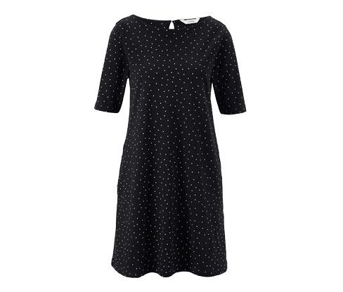 Jerseykleid im Punkte-Dessin