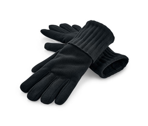 Flísové rukavice, čierne