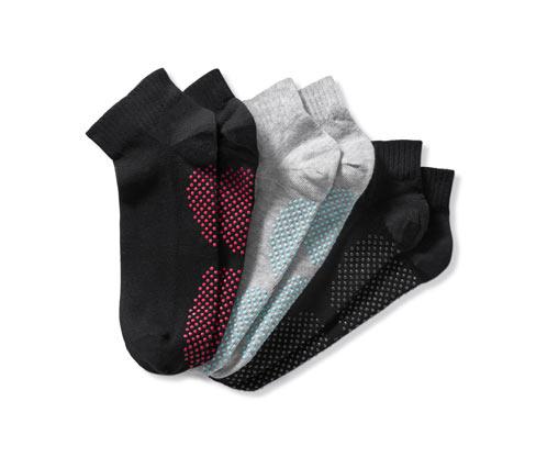 3 női jóga zokni szettben