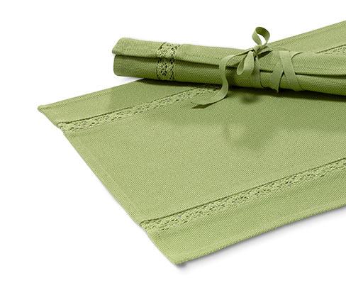 2 dækkeservietter, grøn