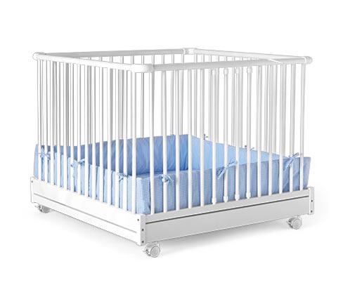 Ohrádka pro miminka, kombinace bílé a světle modré