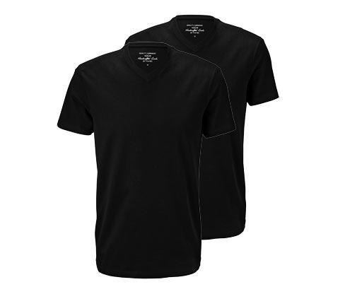 2 t-shirts med V-udskæring