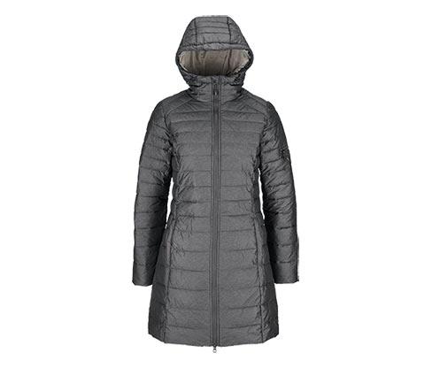 Női steppelt kabát, kapucnis