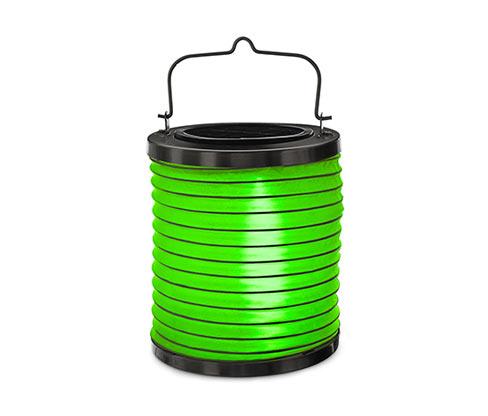 Napelemes LED-es lampion, zöld