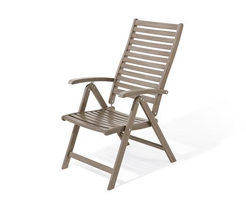 Zahradní židle s vysokým opěradlem
