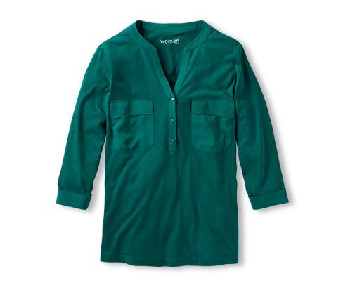 Halenkové tričko, tmavě zelené