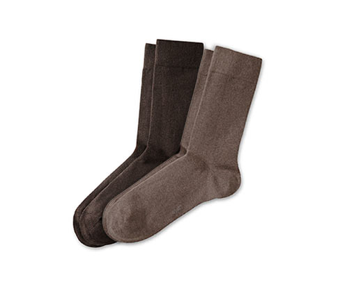2 pár férfi pamutos zokni szettben, barna