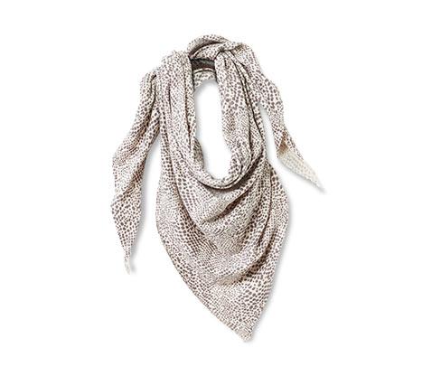 Jemně pletený trojúhelníkový šátek