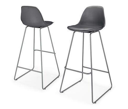 Barové stoličky, 2 ks, antracitové
