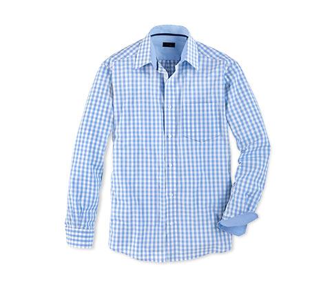 Férfi ing, világoskék kockás