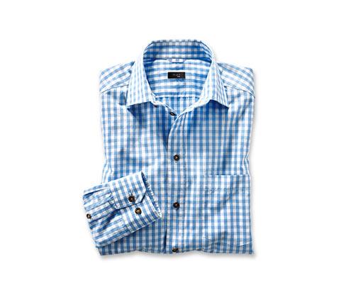 Kostkovaná košile, kombinace světle modré a bílé