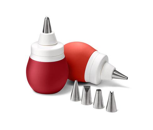 2 Silikon-Dekorierflaschen