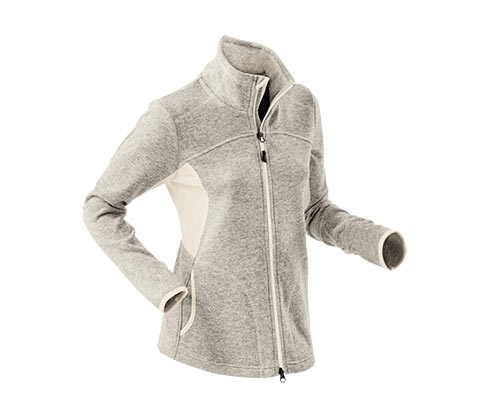 Dámská bunda z pleteného fleecu