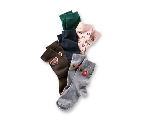 Ponožky s bavlnou, 5 párů