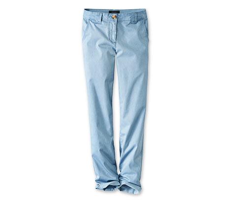 Kalhoty chino, světle modré