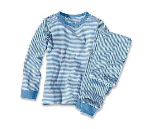 Pyžamo, s modro-bílým proužkem