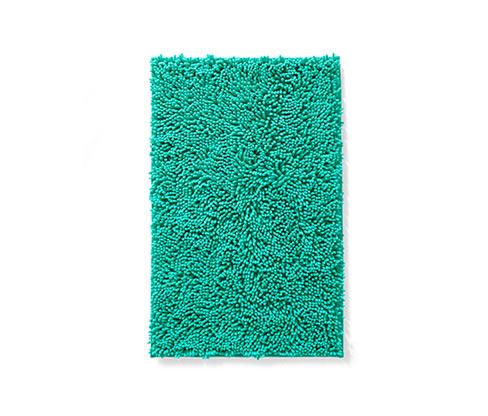 Mikroszálas zsenília kádkilépő, türkiz, 80×50cm