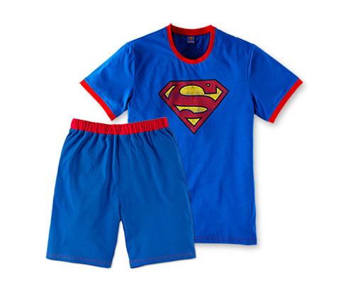 Férfi rövidnadrágos pizsama, Superman