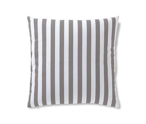 Povlak na dekorační polštářek, šedo-bílý proužek
