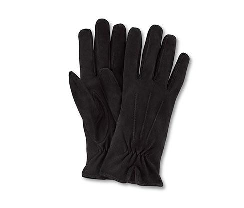Rękawiczki ze skóry welurowej