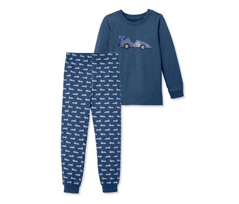 Dziecięca piżama z długim rękawem i ściagaczami na nogawkach i rękawach